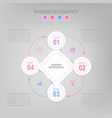 infographic flat design of business icon vector image vector image