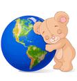 Love Earth Bear vector image