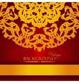 Vintage red and gold elegant invitation card vector image