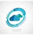 Cloud storage 3d company logo minimal design vector image vector image