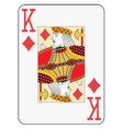 Jumbo index king of diamonds vector image vector image