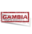 Gambia outlined stamp vector image