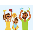 Happy family ready for summer holiday vector image vector image
