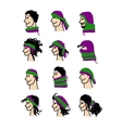 Hats transformer ways of dressing for boys and vector image vector image