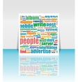 flyer brochure magazine cover design can vector image