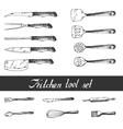 Hand drawn Kitchen Utensils Set vector image