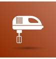 icon mixer electric handmixer hat sign stove vector image