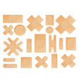 medical plasters perforated realistic set vector image
