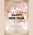 merry christmas and happy new year party promo vector image