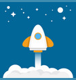 space rocket launch vector image
