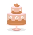 Wedding Cake in Flat Design vector image