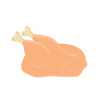 Whole raw chicken vector image