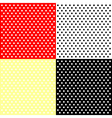 Four polka dots backgrounds vector image