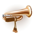 Classical bugle vector image vector image