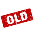 Square grunge red old stamp vector image