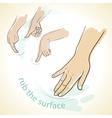rub hands icon vector image vector image