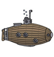 Funny old submarine vector image