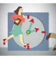 Time management business woman run vector image