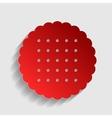 Biscuit sign vector image