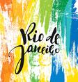 Rio de Janeiro background colors of the Brazilian vector image