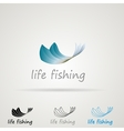 Abstract for fishing vector image