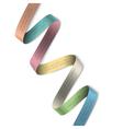Elegant colorful ribbon banner for design vector image