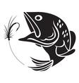 fishing symbol vector image