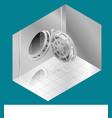 open bank vault door isometric vector image