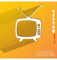 Retro tv Flat modern web button with long shadow vector image