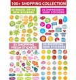 shopping stickers vector image