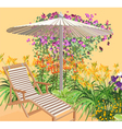 Blooming area vector image vector image