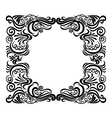 frame swirl vector image vector image