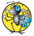 Cartoon fly vector image vector image