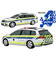 slovenia police car vector image vector image