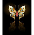 gold butterfly with gems vector image vector image