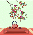 Sakura Tea ceremony Menu Coffee vector image