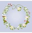 Floral Design Love Spring Beautiful Wedding Wreath vector image