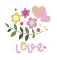 Floral valentine design vector image