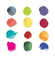 Watercolor splashes set for your design vector image
