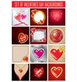 valentine SET back vector image