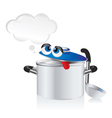 weary pan with a ladle vector image vector image