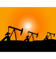 Installations for oil production vector image vector image