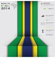 Road To Brazil 2014 Football Tournament vector image