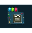 Big data technology concept vector image