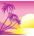 exotic sunset vector image