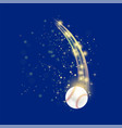 flying baseball ball vector image
