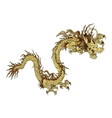 golden Chinese dragon vector image