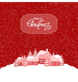 Holiday Christmas card vector image
