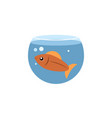 isolated fish flat icon fishbowl element vector image