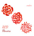 roses watercolor collection flowers set hand vector image